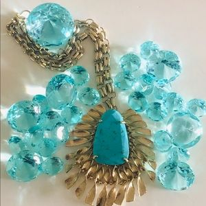 Kendra Scott Vintage Turquoise Statement Necklace